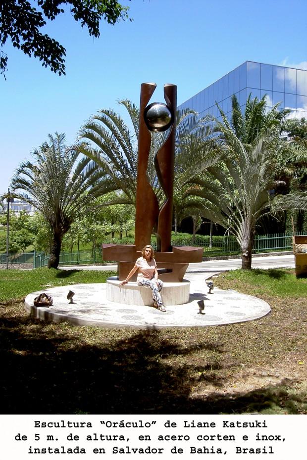 """Resultado de la instalación de la escultura """"Oráculo"""""""