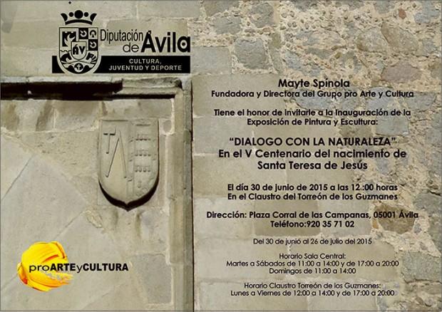 Invitación Pro Arte y Cultura